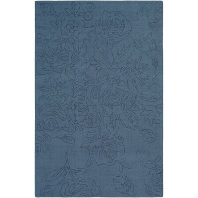 Belle Hand-Loomed Denim Area Rug Rug Size: Rectangle 8 x 10