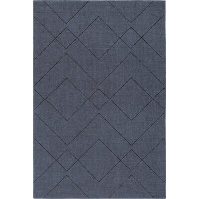 Belle Hand-Loomed Denim Area Rug Rug Size: 2 x 3