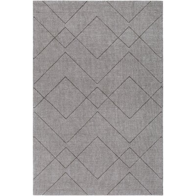 Belle Hand-Loomed Medium Gray Area Rug Rug Size: Rectangle 5 x 76