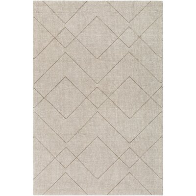 Belle Hand-Loomed Khaki Area Rug Rug Size: Rectangle 5 x 76