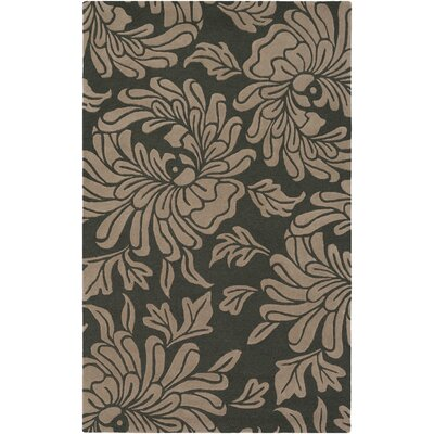 Millwood Hand-Tufted Charcoal/Taupe Area Rug Rug Size: Rectangle 5 x 8