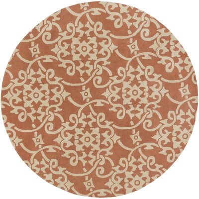 Millwood Hand-Tufted Peach/Cream Area Rug Rug Size: 8 x 11