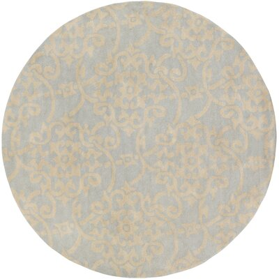 Millwood Hand-Tufted Pale Blue/Butter Area Rug Rug Size: 2 x 3