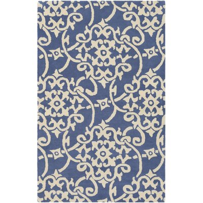 Millwood Hand-Tufted Violet/Butter Area Rug Rug Size: Rectangle 5 x 8