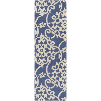 Millwood Hand-Tufted Violet/Butter Area Rug Rug Size: Runner 26 x 8
