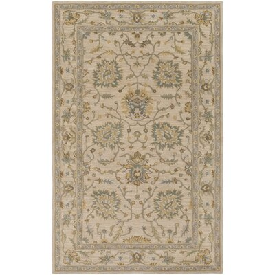 Millwood Hand-Tufted Green/Brown Area Rug Rug Size: Rectangle 5 x 8