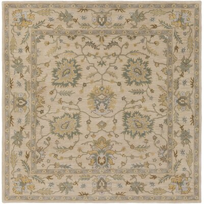 Millwood Hand-Tufted Green/Brown Area Rug Rug Size: Square 4