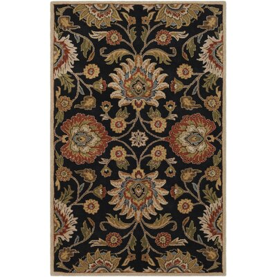 Keefer Hand-Tufted Rust/Brown Area Rug Rug Size: Rectangle 2' x 3'