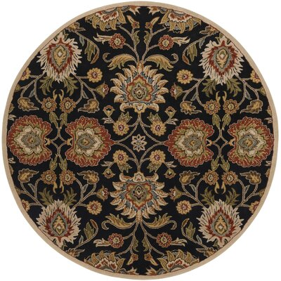 Keefer Hand-Tufted Rust/Brown Area Rug Rug Size: Round 6