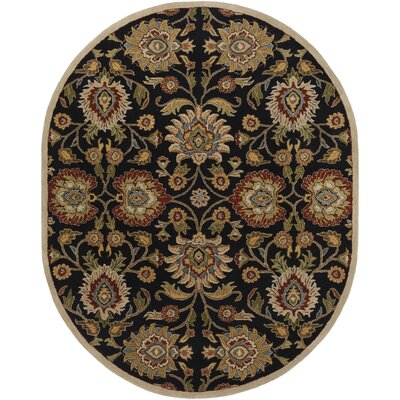 Keefer Hand-Tufted Rust/Brown Area Rug Rug Size: Oval 6 x 9