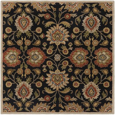 Keefer Hand-Tufted Rust/Brown Area Rug Rug Size: 76 x 96