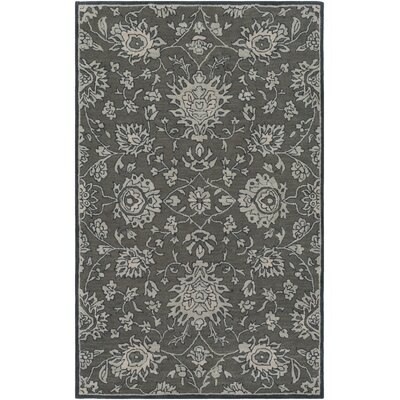 Keefer Hand-Tufted Wool Dark Brown Area Rug Rug Size: 5 x 8