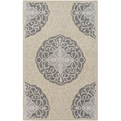 Windsor Hand-Tufted Green/Gray Area Rug Rug Size: Round 8'