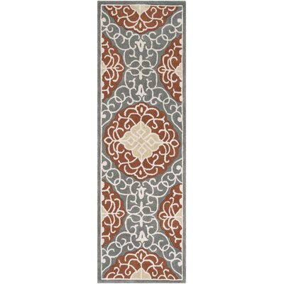 Windsor Hand-Tufted Camel/Gray Area Rug Rug Size: Runner 26 x 8