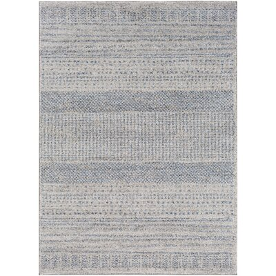 Addora Medium Gray/Bright Blue Area Rug Rug Size: 4 x 6
