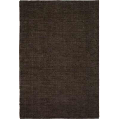 Laraine Hand-Loomed Black/Brown Area Rug Rug Size: 9 x 13