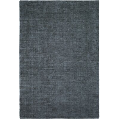 Laraine Hand-Loomed Charcoal/Denim Area Rug Rug Size: 6 x 9