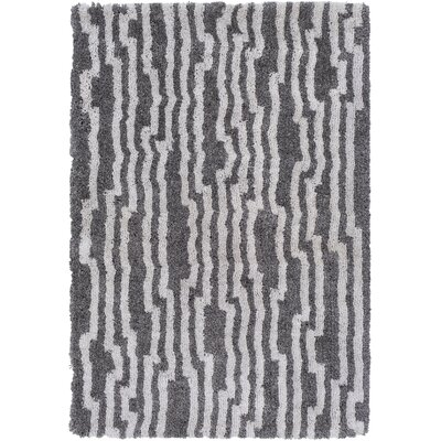 Kina Hand-Tufted Ivory/Black Area Rug Rug Size: Rectangle 2' x 3'