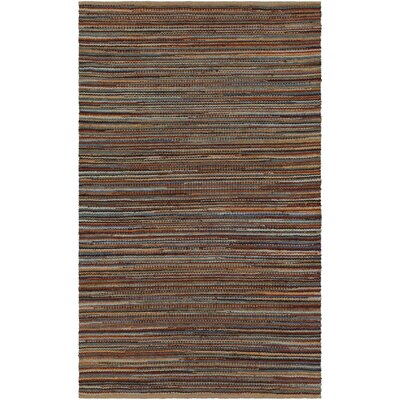 Pitcher Hand-Woven Red/Blue Area Rug Rug Size: Rectangle 5 x 76