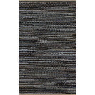 Pitcher Hand-Woven Gray/Black Area Rug Rug Size: 5' x 7'6