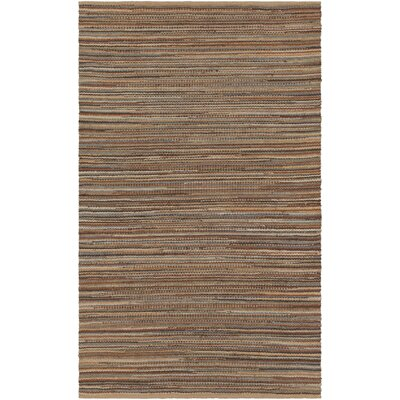Pitcher Hand-Woven Brown/Orange Area Rug Rug Size: Rectangle 5 x 76