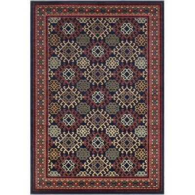 Batchelder Woven Blue/Red Area Rug Rug Size: Rectangle 2 x 3
