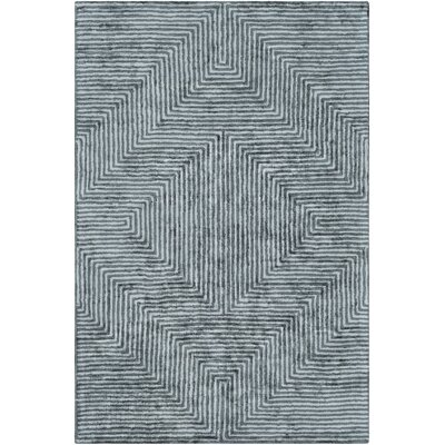 Arenas Hand-Tufted Gray Area Rug Rug Size: Rectangle 9 x 13
