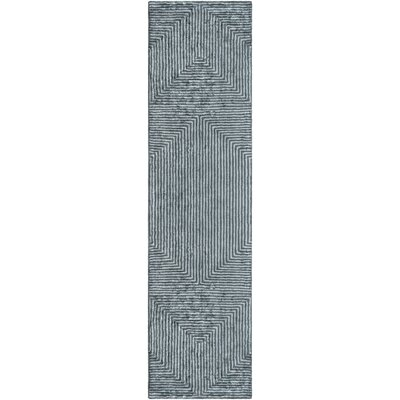 Arenas Hand-Tufted Gray Area Rug Rug Size: Runner 26 x 8