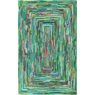 Thao Hand-Woven Green/Blue Area Rug Rug Size: Rectangle 6 x 9