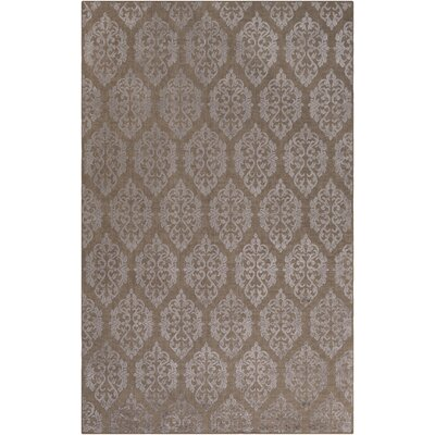 Anwen Hand-Knotted Brown/Gray Area Rug Rug Size: 6 x 9