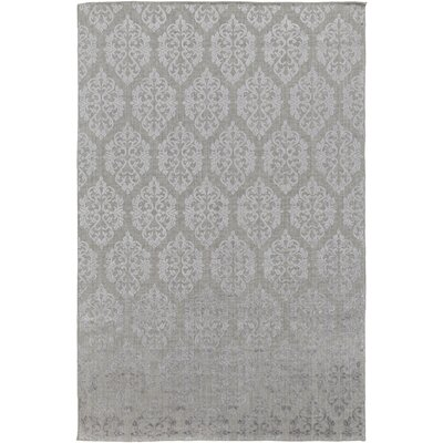 Anwen Hand-Knotted Gray Area Rug Rug Size: Rectangle 6 x 9