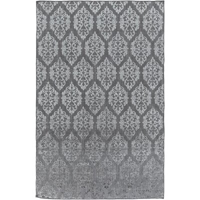 Anwen Hand-Knotted Gray Area Rug Rug Size: Rectangle 9 x 13