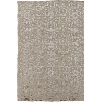 Anwen Hand-Knotted Taupe/Camel Area Rug Rug Size: Rectangle 9 x 13