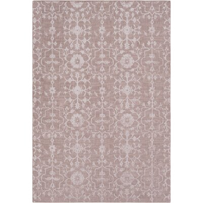 Anwen Hand-Knotted Blush/Rose Area Rug Rug Size: Rectangle 6 x 9