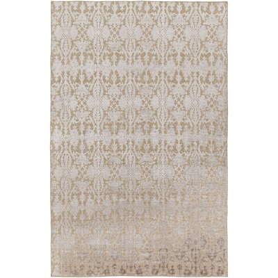 Anwen Hand-Knotted Tan/Gray Area Rug Rug Size: Rectangle 6 x 9