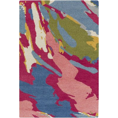 Angelena Hand-Tufted Multi-Colored Area Rug Rug Size: 8 x 10