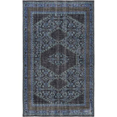 Fender Hand-Knotted Navy Area Rug Rug Size: Rectangle 36 x 56