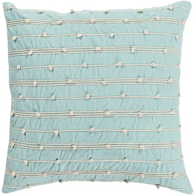 Elizabella Green 100% Cotton Throw Pillow Size: 18 H x 18 W x 3.5 D, Fill Material: Down Fill