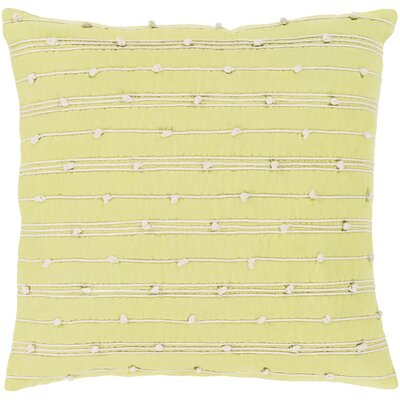 Bilbie 100% Cotton Pillow Cover Size: 20 H x 20 W x 3.5 D, Color: Yellow, Fill Material: Down Fill