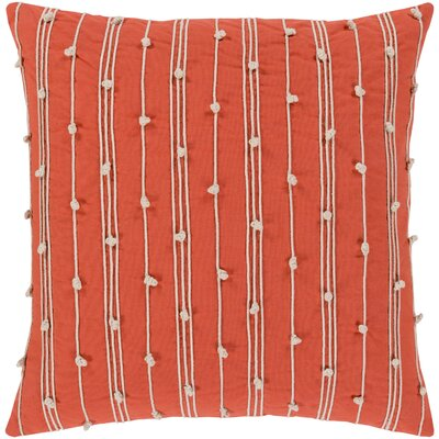 Bilbie Square 100% Cotton Pillow Cover Size: 18 H x 18 W, Color: Orange