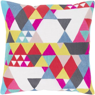 Carlin 100% Cotton Throw Pillow Size: 18 H x 18 W x 3.5 D