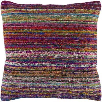 Jabari Throw Pillow Color: Viloet/Red/Brown, Fill Material: Down Fill