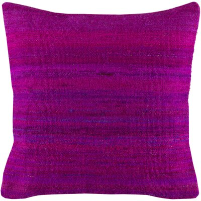 Jabari Throw Pillow Color: Bright Purple, Fill Material: Down Fill