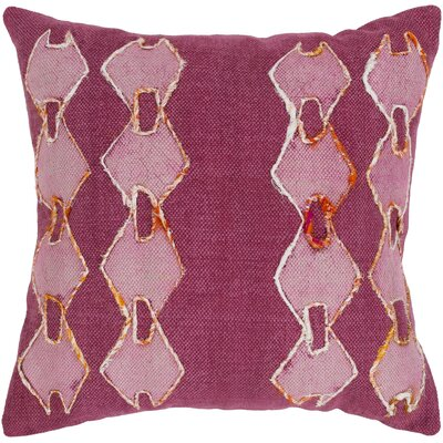Owens 100% Cotton Throw Pillow Color: Fuschia, Fill Material: Poly Fill
