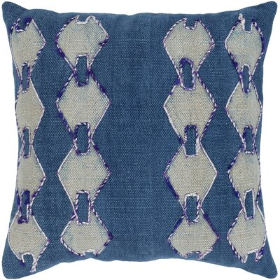 Owens 100% Cotton Pillow Cover Color: Dark Blue