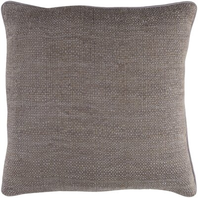Kaj Pillow Cover Size: 18 H x 18 W, Color: Medium Gray