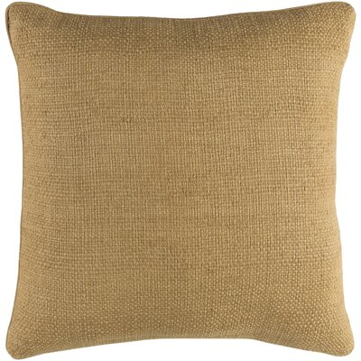 Fort Carson Throw Pillow Size: 18 H x 18 W x 3.5 D, Color: Wheat, Fill Material: Down Fill