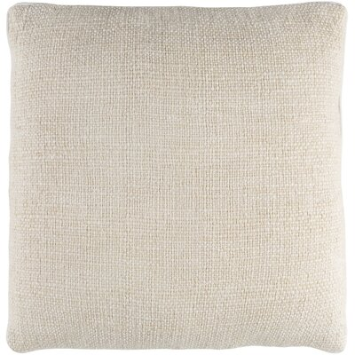 Kaj Pillow Cover Size: 18 H x 18 W, Color: Cream