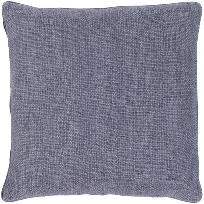 Kaj Throw Pillow Size: 20 H x 20 W x 3.5 D, Color: Denim, Fill Material: Poly Fill