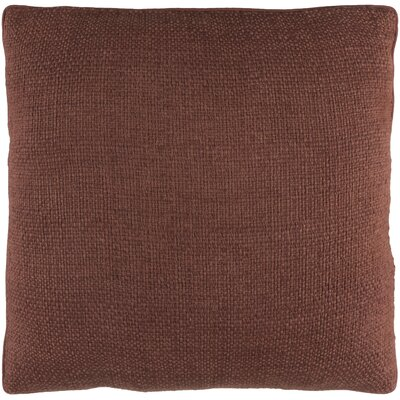Kaj Pillow Cover Size: 20 H x 20 W, Color: Dark Brown